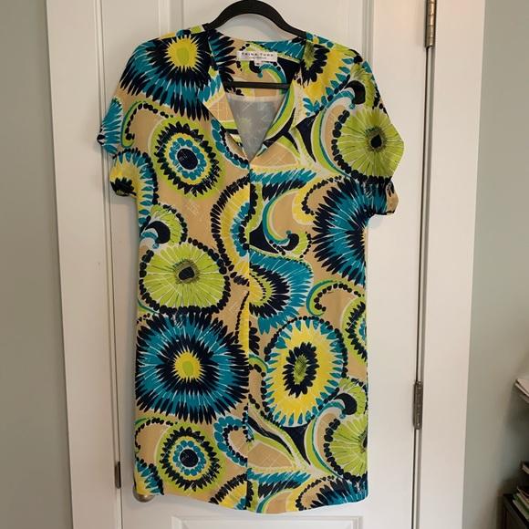 Trina Turk Dresses & Skirts - 💙💚💛Trina Turk Belted Silk Dress